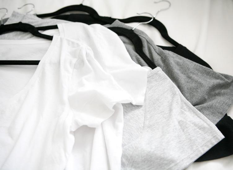 clothing on hangers white background