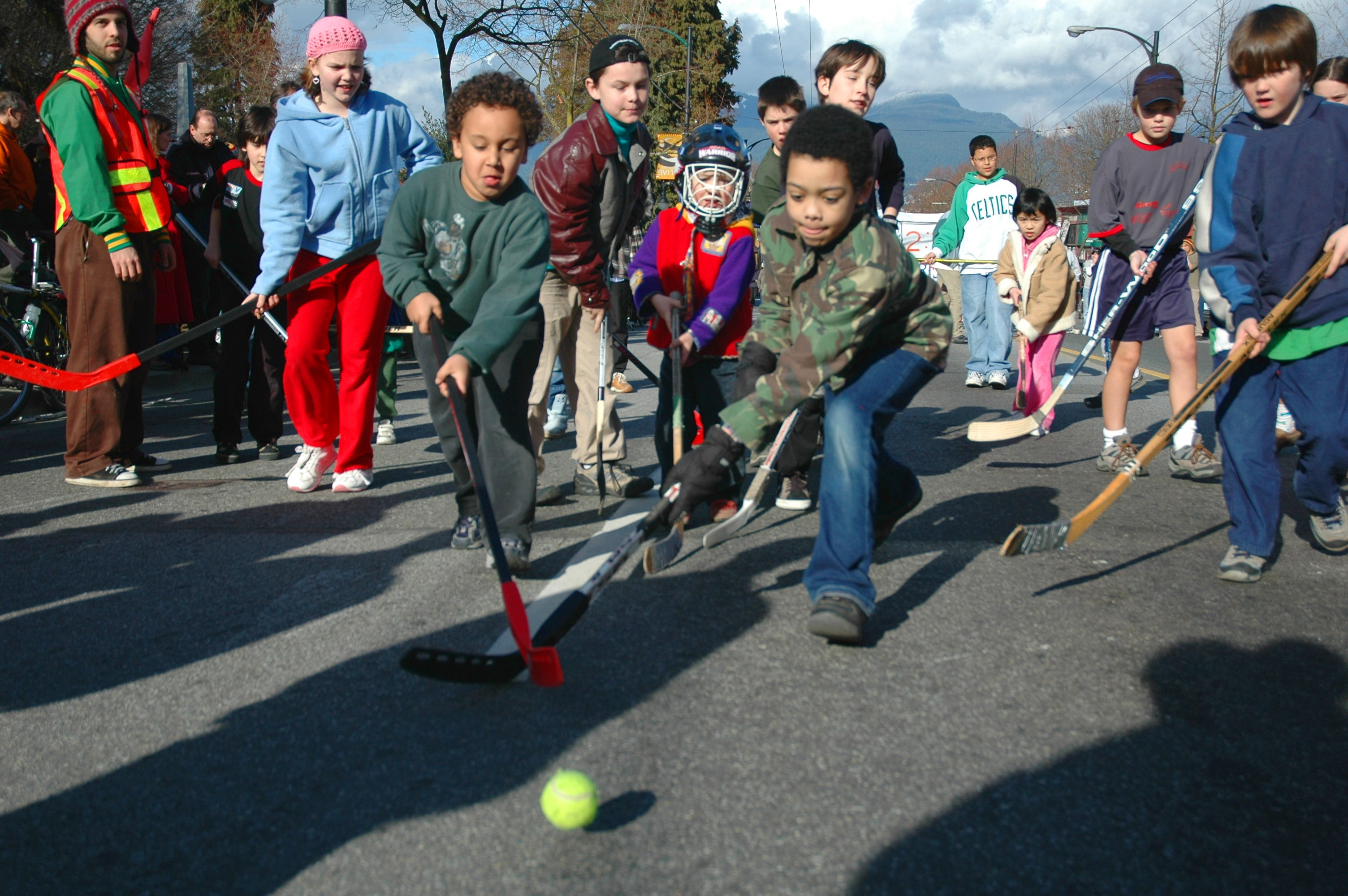 kids playing street hockey. Street PLAY 2017