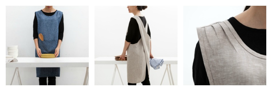 Crossback Linen Apron - Made in Canada by Objective