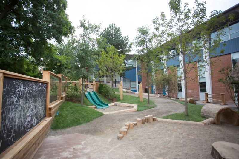 Kingsway College natural playground