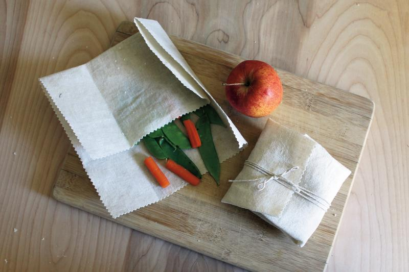 vegetables wrapped in beeswax wraps