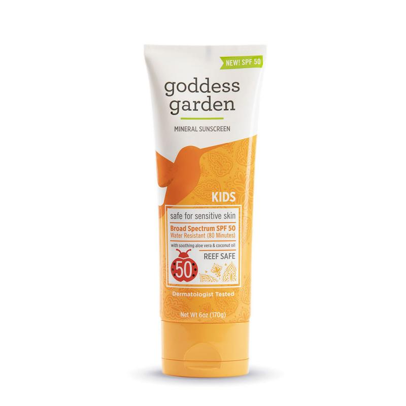tube of Goddess Garden SPF 50 kids' sunscreen