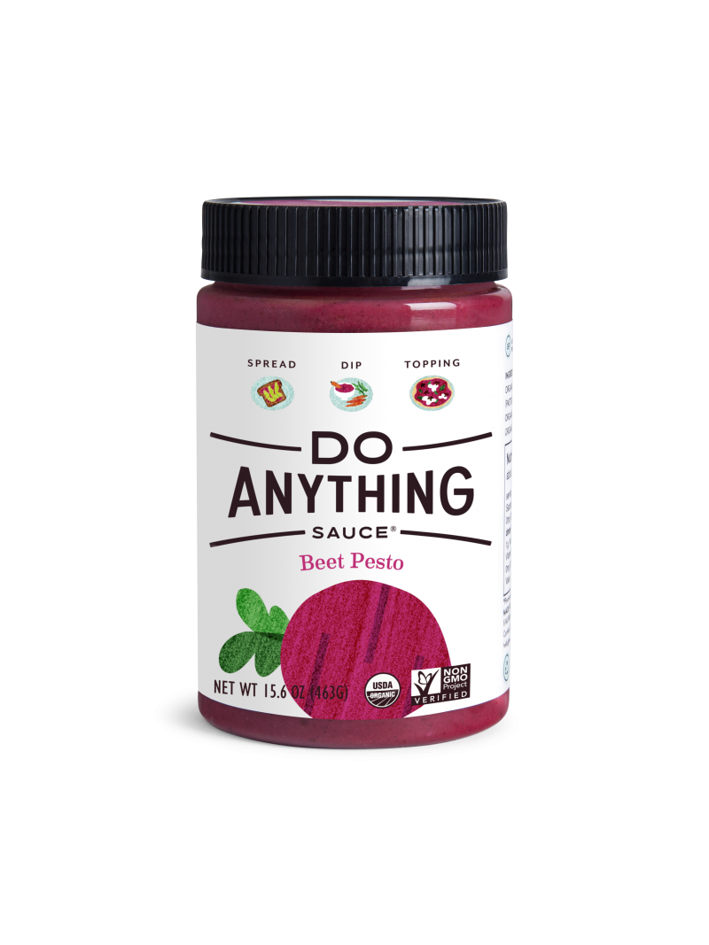 jar of Do Anything Beet Pesto