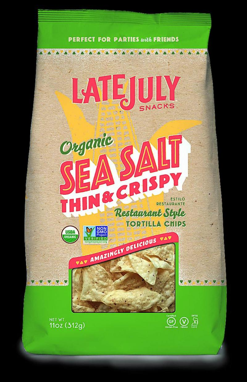 bag of Late July tortilla chips