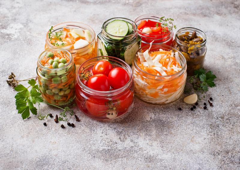Fermented foods like kimchi, pickled beets