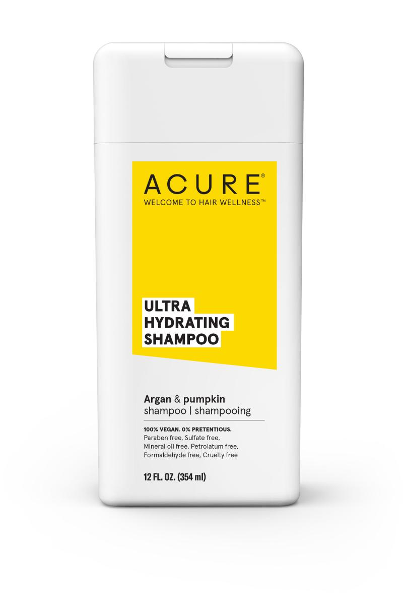 Shampoo bottle with yellow label