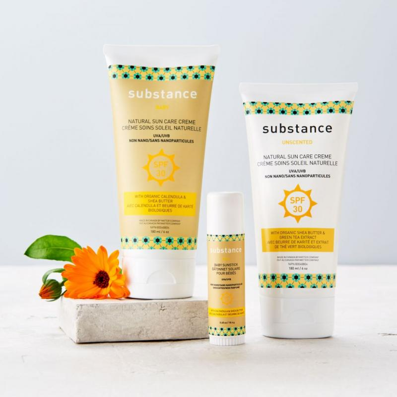bottles of Matter Company Substance sunscreen